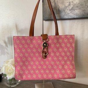Dooney and Bourke Pink Canvas Tote Shoulder Bag